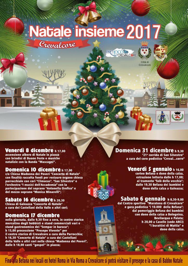 Babbo Natale 8 Dicembre Roma.Natale Insieme 2017 Proloco Crevalcore