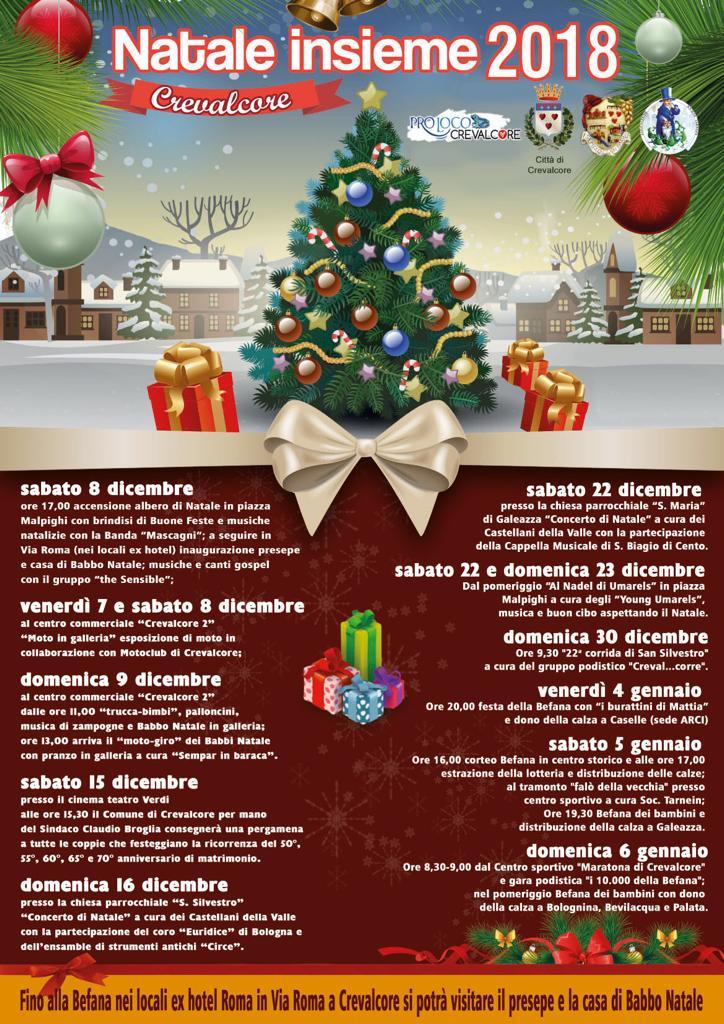 Babbo Natale 8 Dicembre Roma.Natale Insieme 2018 Proloco Crevalcore